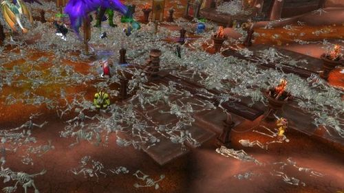 Aftermath of a Corrupted Blood outbreak in Ogrimmar